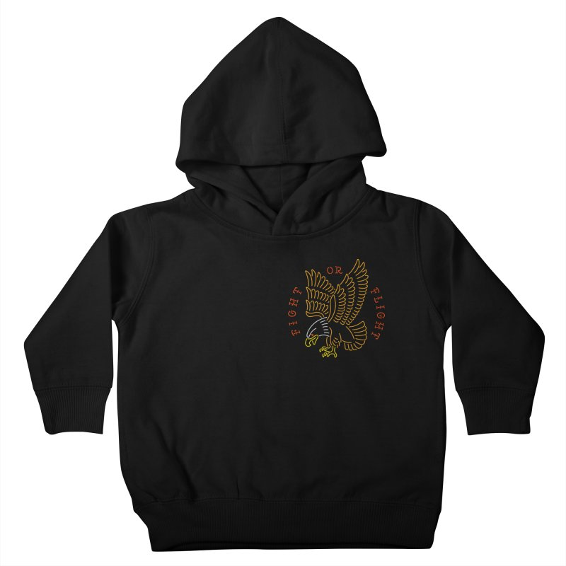 Fight or Flight Kids Toddler Pullover Hoody by csw
