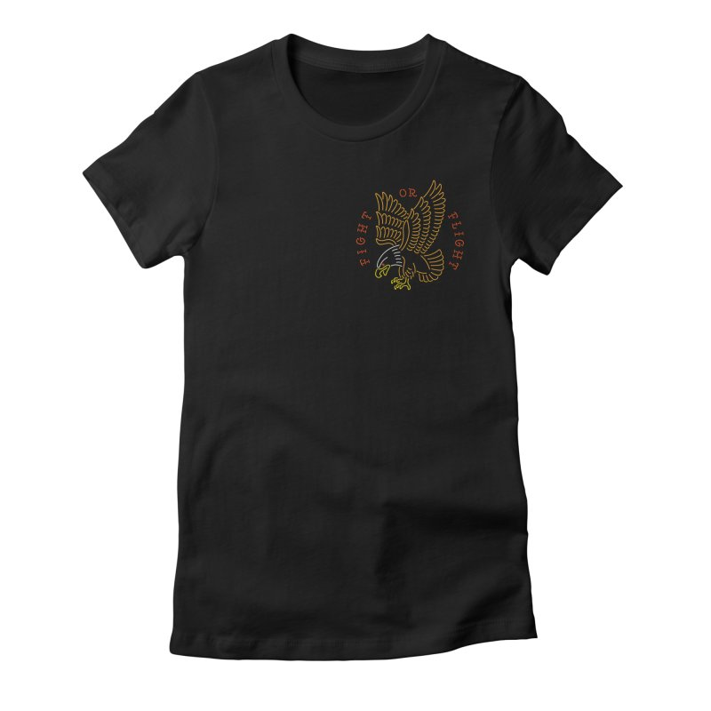 Fight or Flight Women's Fitted T-Shirt by csw