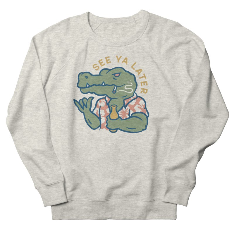 See Ya Later Men's French Terry Sweatshirt by csw