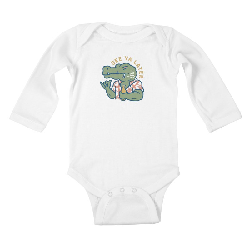See Ya Later Kids Baby Longsleeve Bodysuit by csw