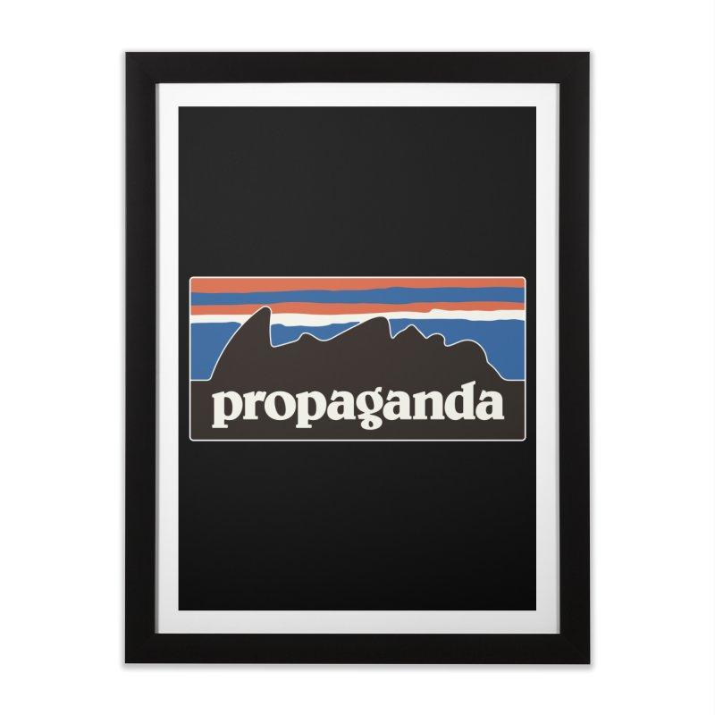 Propaganda Home Framed Fine Art Print by csw