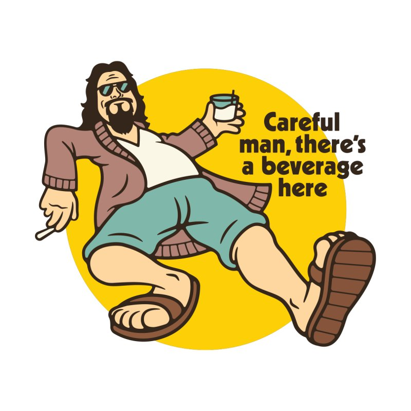Careful, man. Men's T-Shirt by Cody Weiler