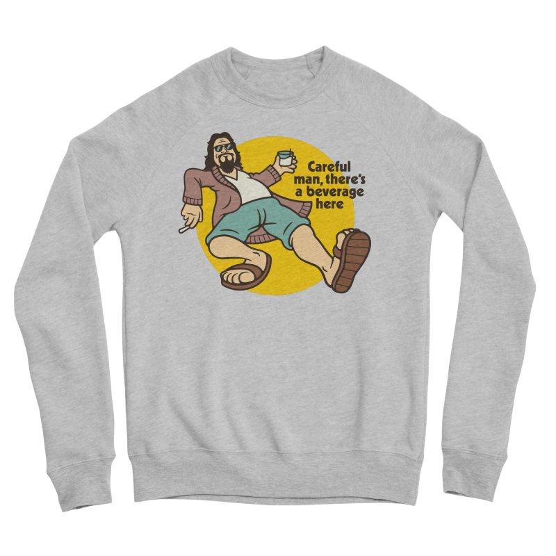 Careful, man. Men's Sponge Fleece Sweatshirt by csw