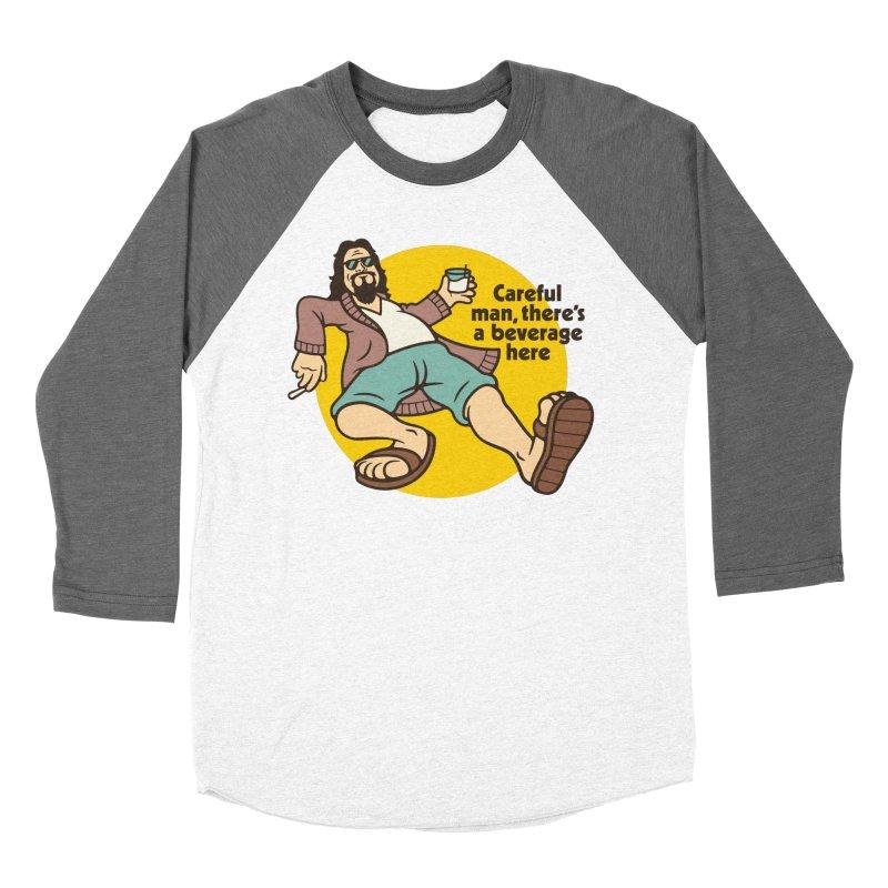 Careful, man. Women's Baseball Triblend Longsleeve T-Shirt by csw