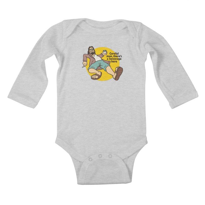 Careful, man. Kids Baby Longsleeve Bodysuit by csw