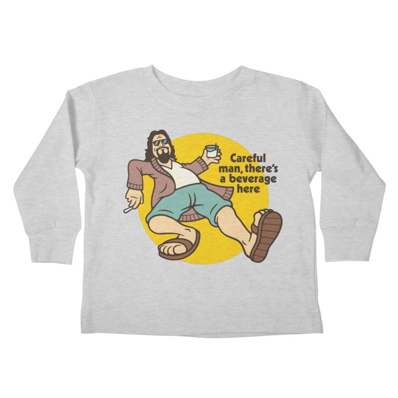 Careful, man. Kids Toddler Longsleeve T-Shirt by csw