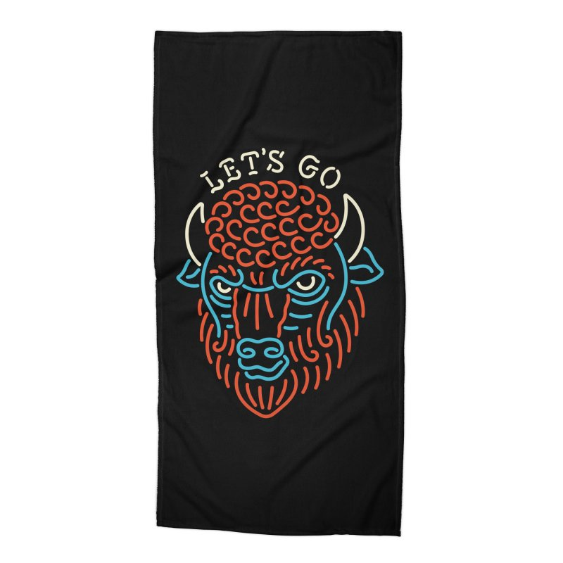 Let's Go Accessories Beach Towel by csw