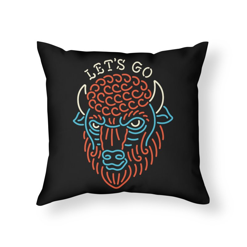 Let's Go Home Throw Pillow by csw
