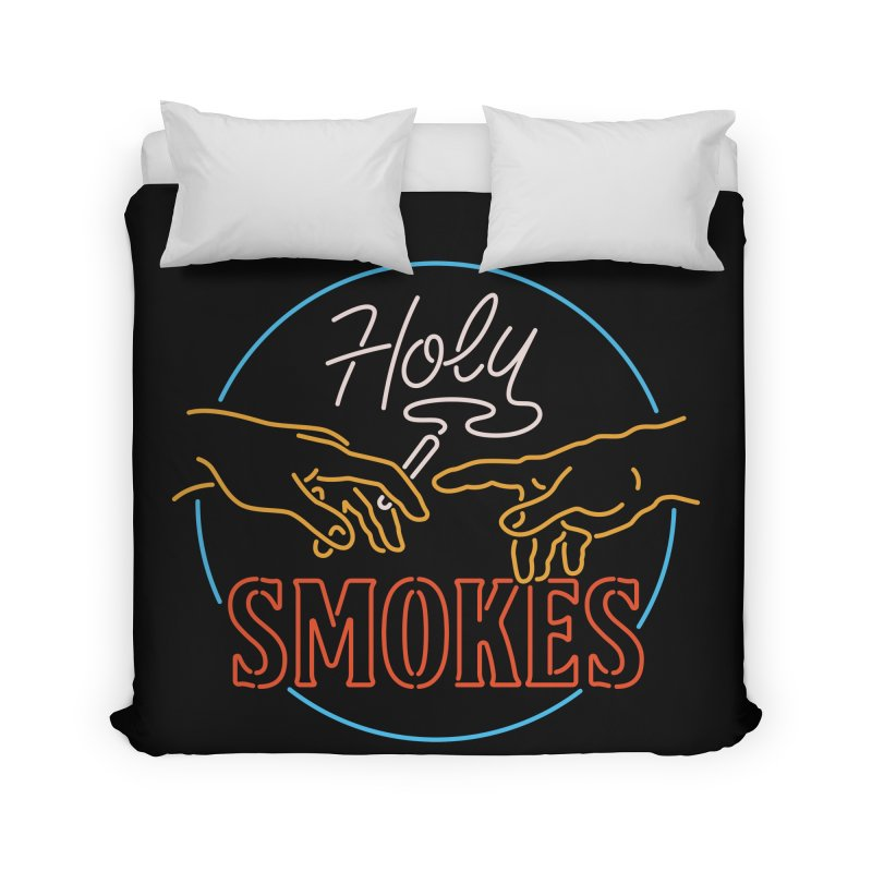 Holy Smokes III Home Duvet by Cody Weiler