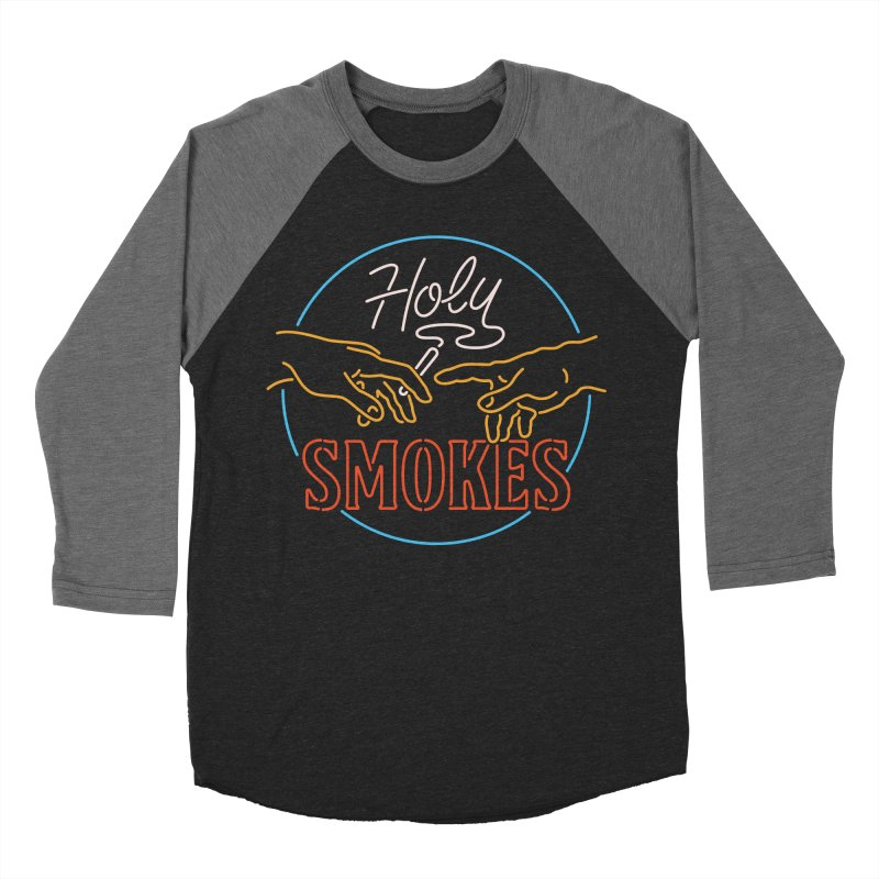 Holy Smokes III Men's Baseball Triblend Longsleeve T-Shirt by csw