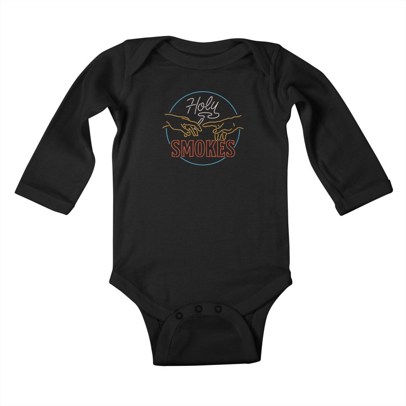 Holy Smokes III Kids Baby Longsleeve Bodysuit by csw
