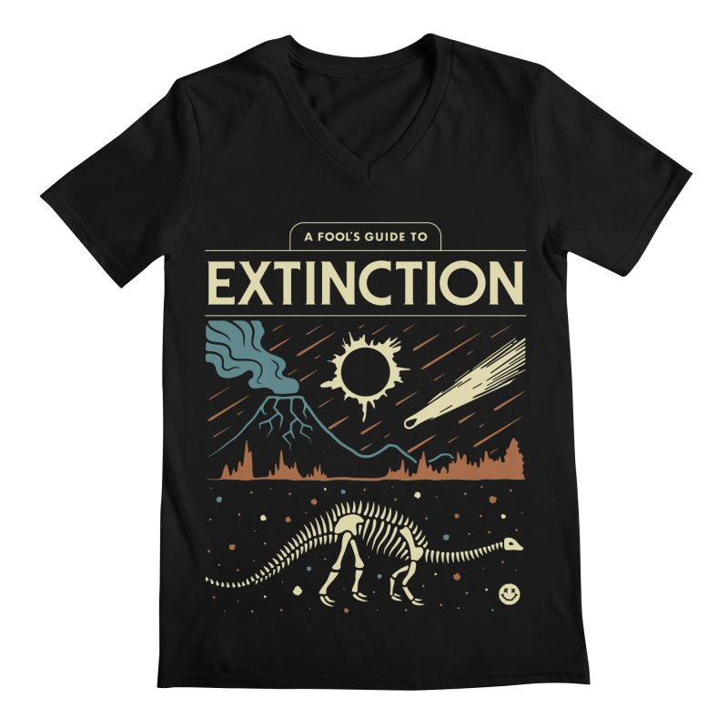 A Fool's Guide to Extinction Men's Regular V-Neck by csw