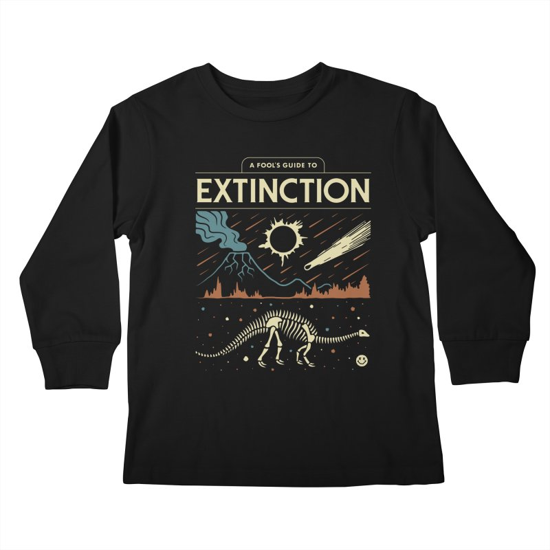 A Fool's Guide to Extinction Kids Longsleeve T-Shirt by csw