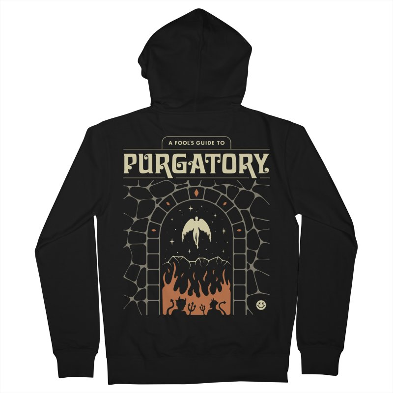 A Fool's Guide to Purgatory Men's French Terry Zip-Up Hoody by csw