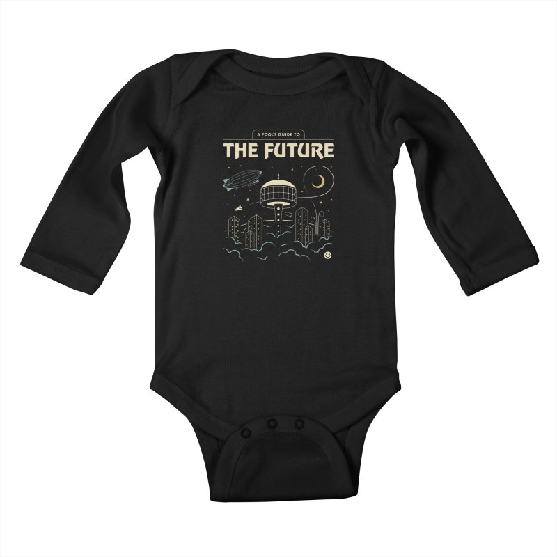 A Fool's Guide to the Future Kids Baby Longsleeve Bodysuit by csw