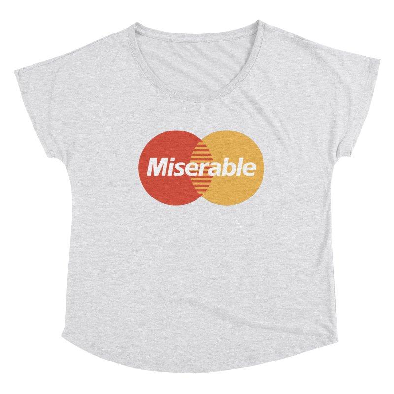 Miserable Women's Scoop Neck by Cody Weiler