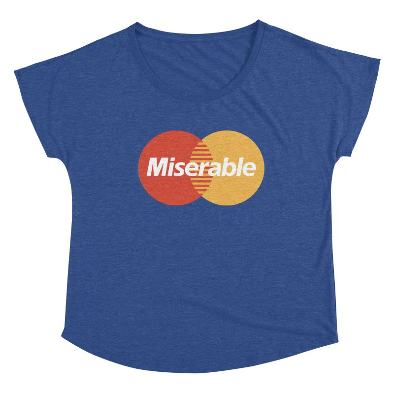 Miserable Women's Scoop Neck by Cody Weiler