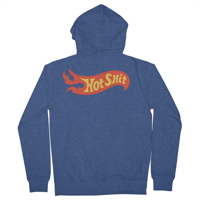 Hot Shit Men's French Terry Zip-Up Hoody by Cody Weiler