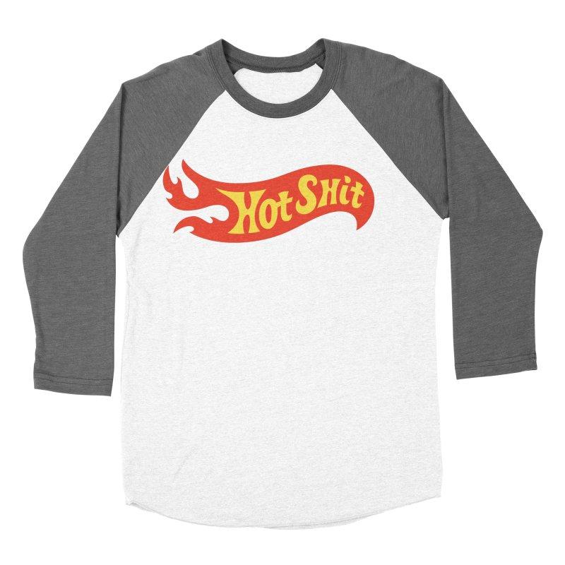 Hot Shit Women's Baseball Triblend Longsleeve T-Shirt by Cody Weiler