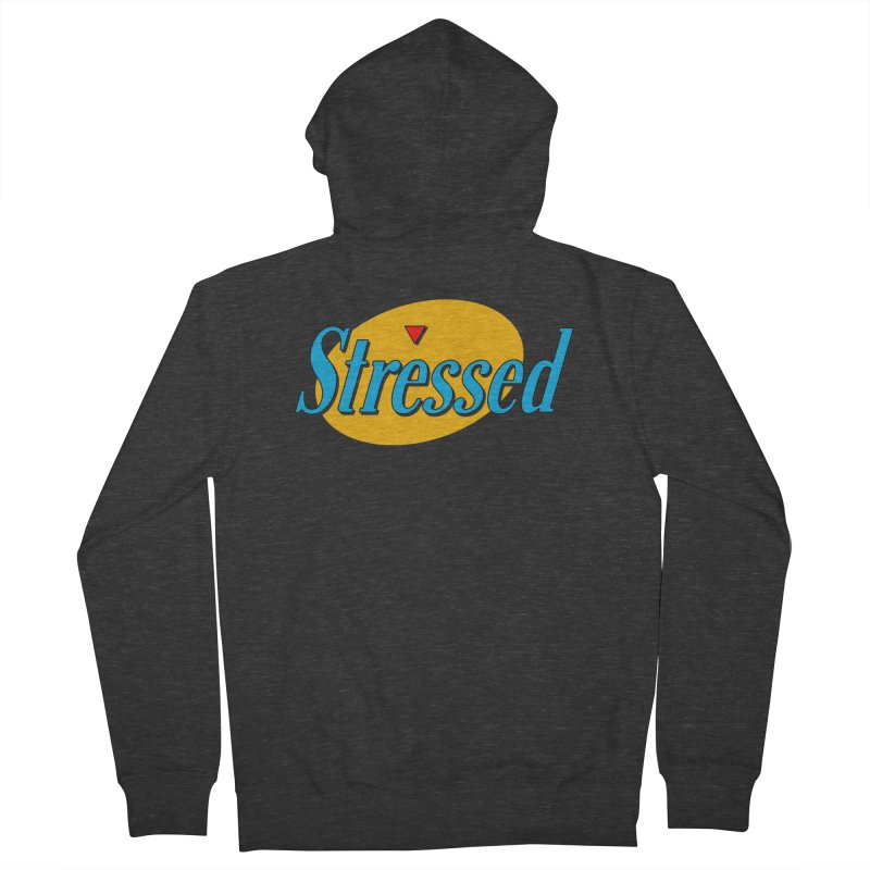 Stressed I Men's French Terry Zip-Up Hoody by Cody Weiler