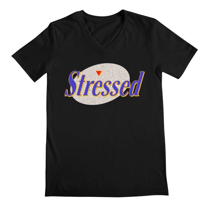 Stressed II Men's V-Neck by Cody Weiler