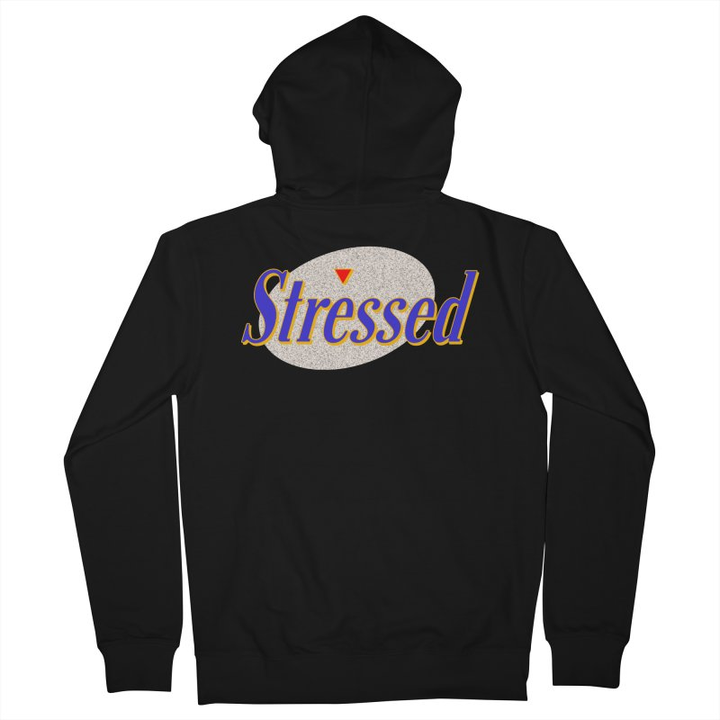 Stressed II Men's French Terry Zip-Up Hoody by Cody Weiler
