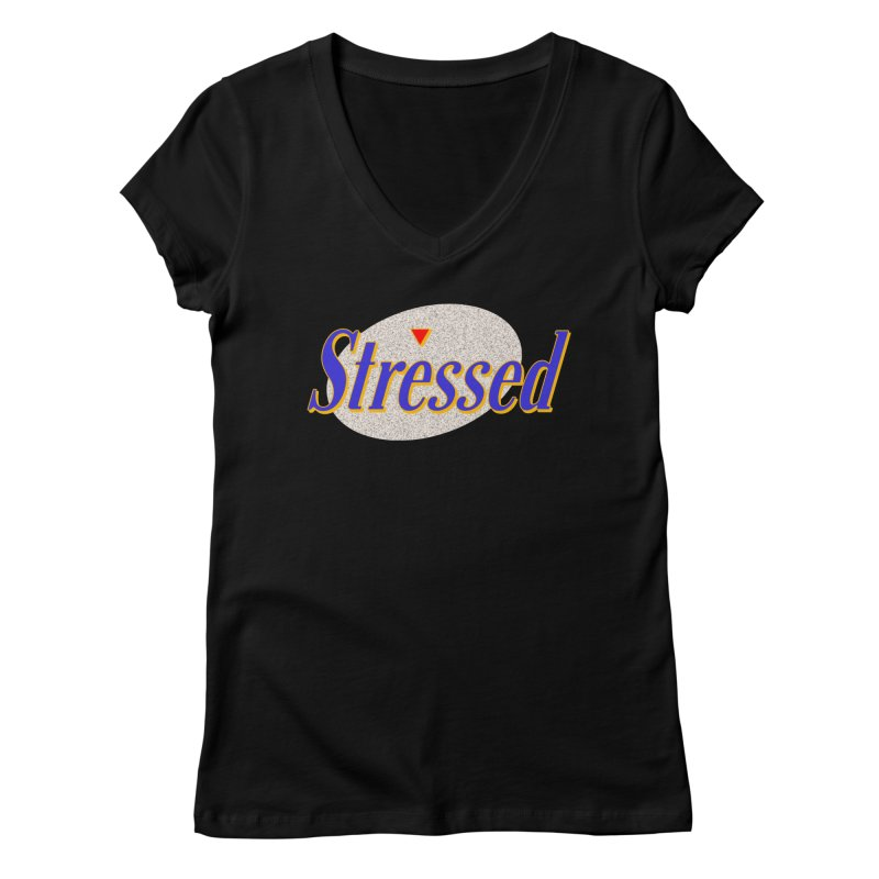 Stressed II Women's V-Neck by Cody Weiler