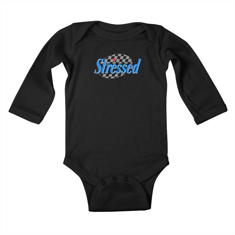 Stressed III Kids Baby Longsleeve Bodysuit by Cody Weiler