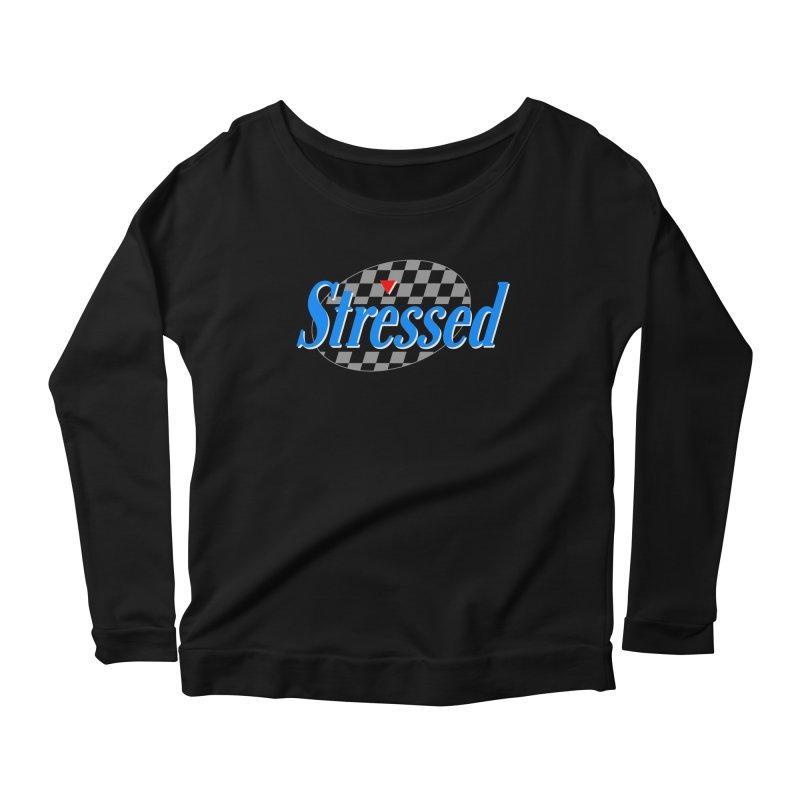 Stressed III Women's Scoop Neck Longsleeve T-Shirt by Cody Weiler