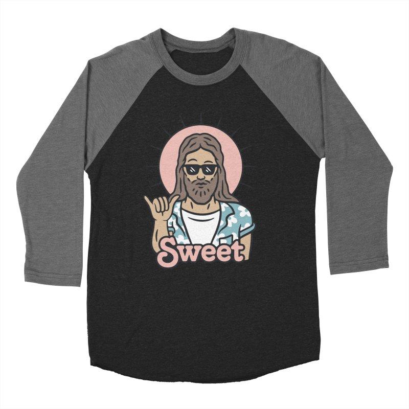 Sweet Jesus Men's Baseball Triblend Longsleeve T-Shirt by Cody Weiler