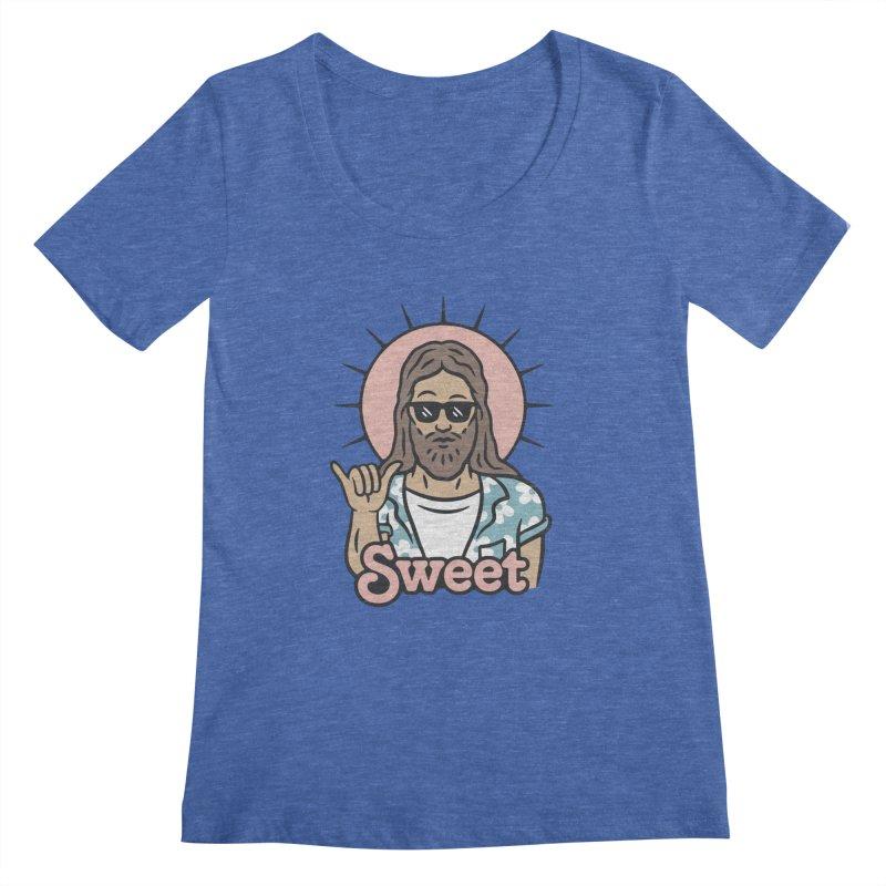 Sweet Jesus Women's Regular Scoop Neck by Cody Weiler