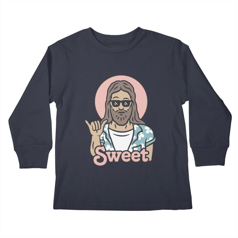 Sweet Jesus Kids Longsleeve T-Shirt by Cody Weiler