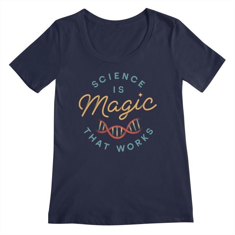Science is Magic Women's Regular Scoop Neck by Cody Weiler