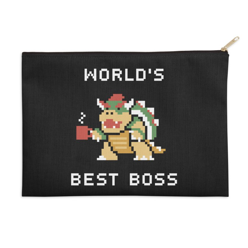 World's Best Boss Accessories Zip Pouch by Cody Weiler