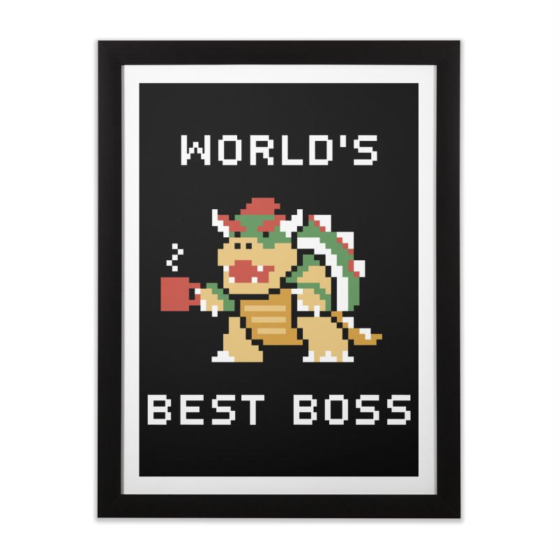 World's Best Boss Home Framed Fine Art Print by Cody Weiler