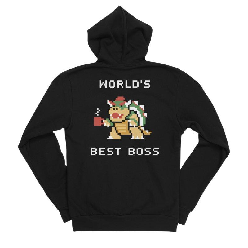 World's Best Boss Men's Sponge Fleece Zip-Up Hoody by Cody Weiler