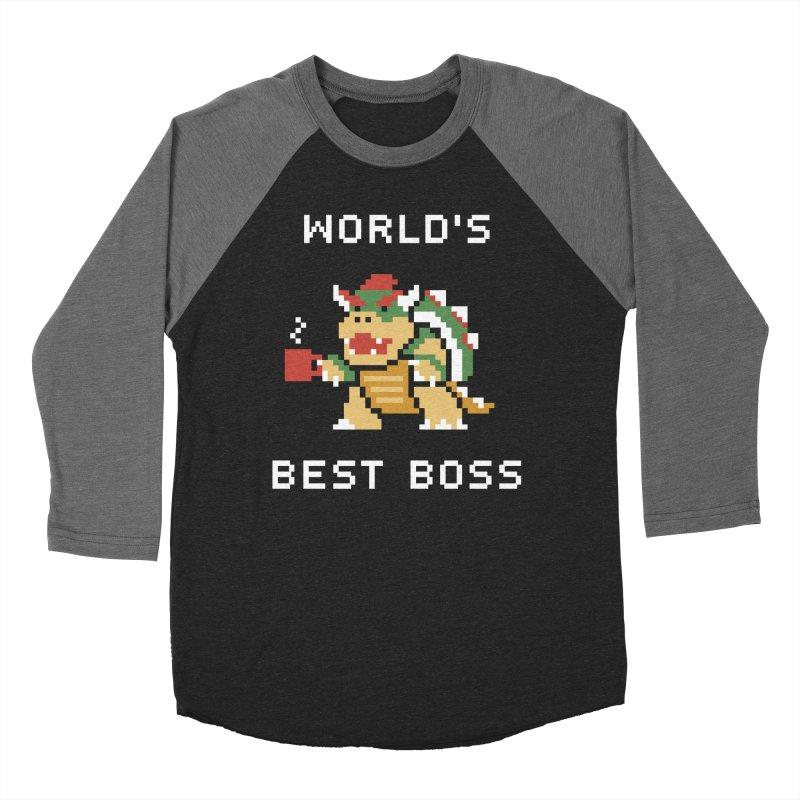World's Best Boss Men's Baseball Triblend Longsleeve T-Shirt by Cody Weiler