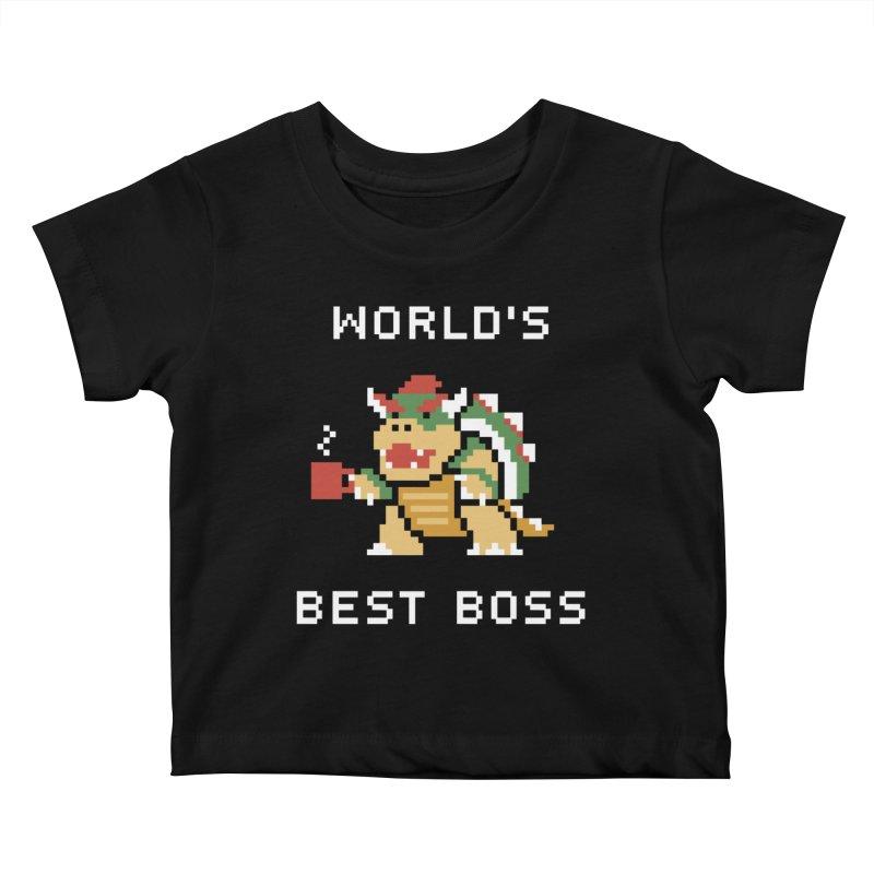 World's Best Boss Kids Baby T-Shirt by Cody Weiler