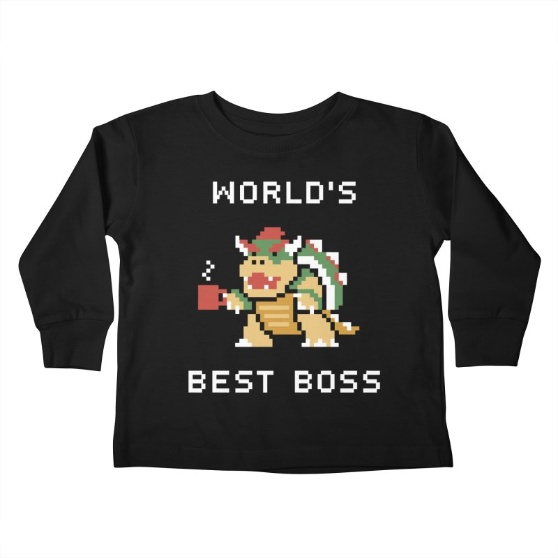 World's Best Boss Kids Toddler Longsleeve T-Shirt by Cody Weiler