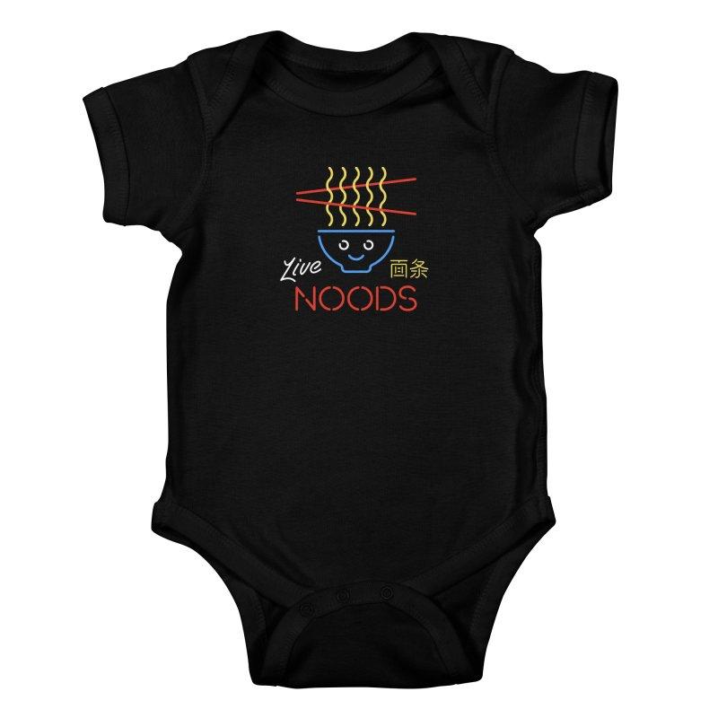 Live Noods Kids Baby Bodysuit by Cody Weiler
