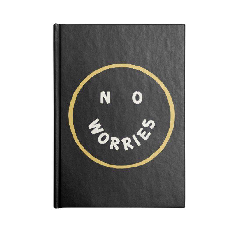 No Worries Accessories Lined Journal Notebook by Cody Weiler