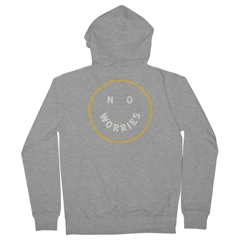 No Worries Men's French Terry Zip-Up Hoody by Cody Weiler