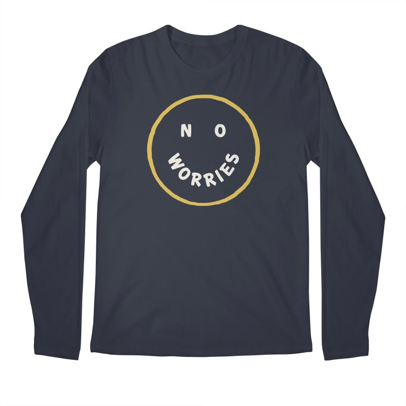 No Worries Men's Regular Longsleeve T-Shirt by Cody Weiler