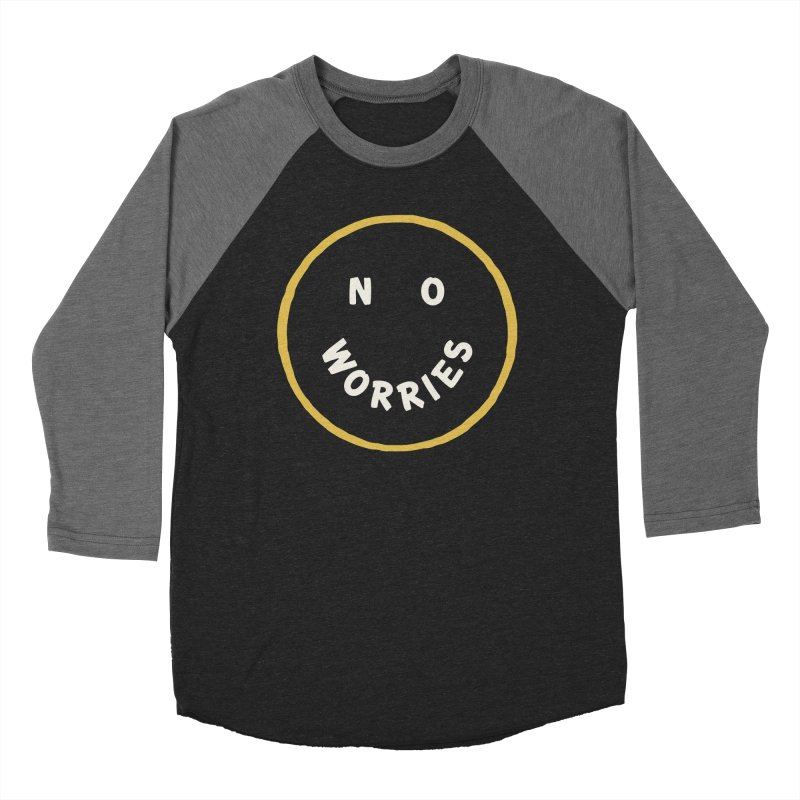 No Worries Men's Baseball Triblend Longsleeve T-Shirt by Cody Weiler