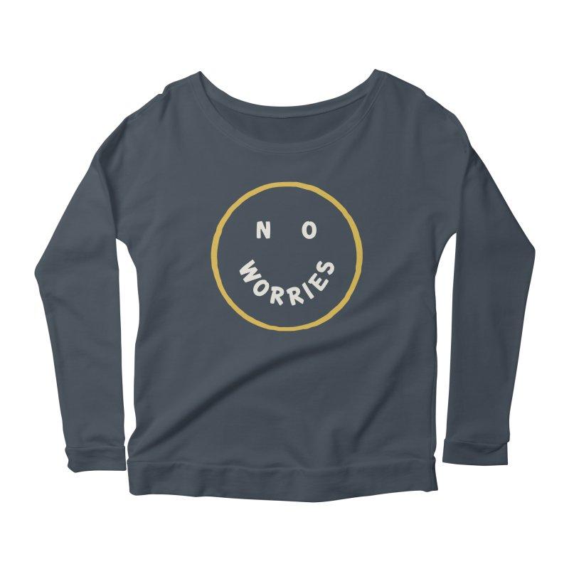 No Worries Women's Scoop Neck Longsleeve T-Shirt by Cody Weiler