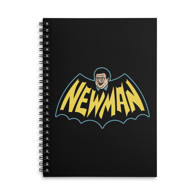 Nananananananana Newman Accessories Lined Spiral Notebook by Cody Weiler