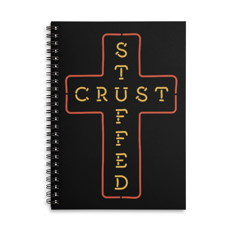 Cheesus Crust Accessories Lined Spiral Notebook by Cody Weiler