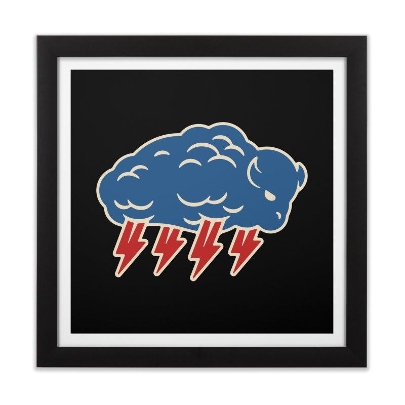 Buffalo Thunder Home Framed Fine Art Print by Cody Weiler