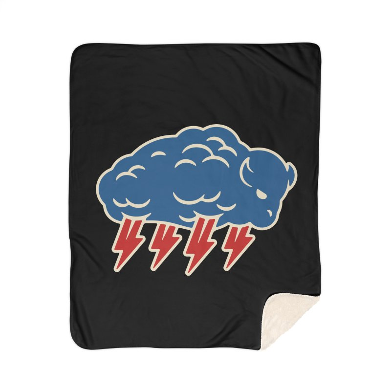 Buffalo Thunder Home Sherpa Blanket Blanket by Cody Weiler