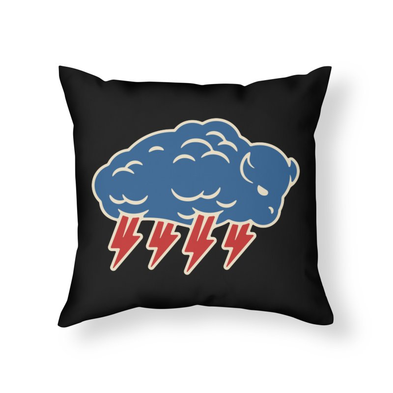 Buffalo Thunder Home Throw Pillow by Cody Weiler